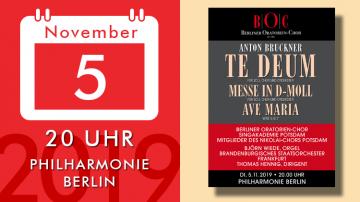 Anton Bruckner – Te Deum, Messe d-moll